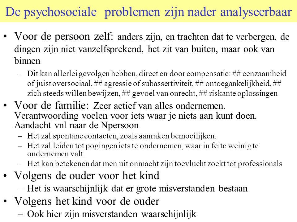 De psychosociale problemen zijn nader analyseerbaar