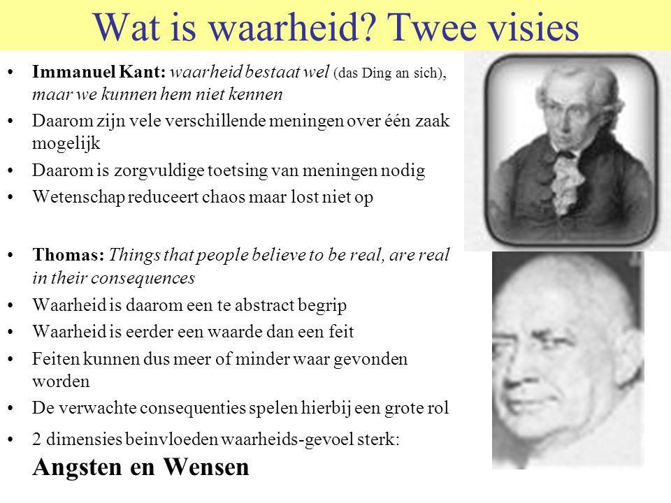Wat is waarheid Twee visies