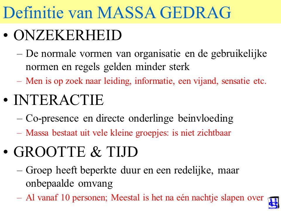 Definitie van MASSA GEDRAG