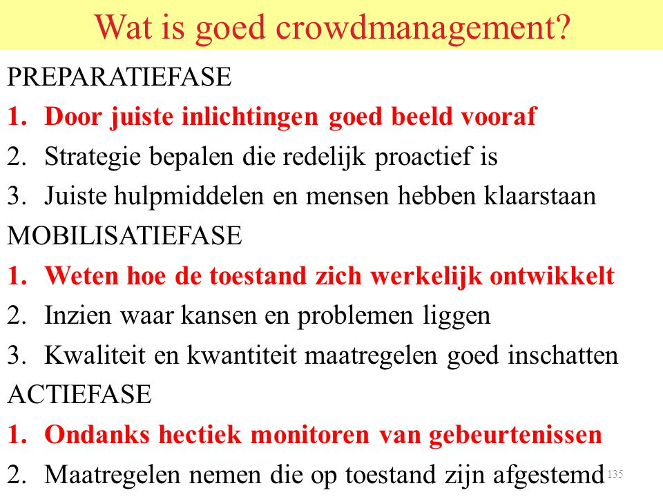 Wat is goed crowdmanagement