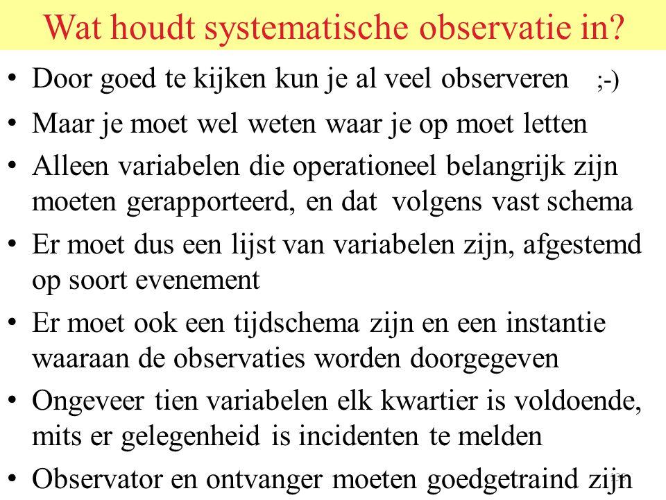 Wat houdt systematische observatie in