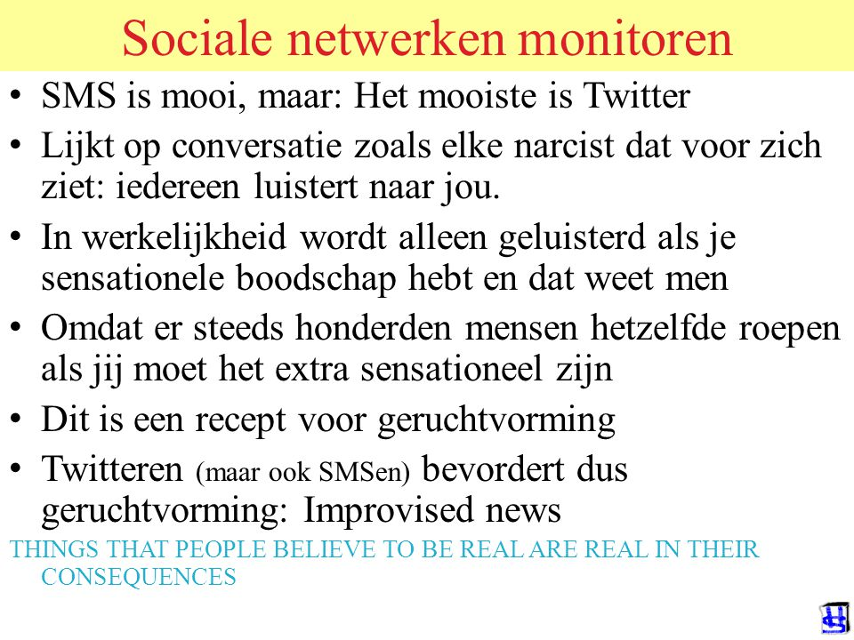 Sociale netwerken monitoren