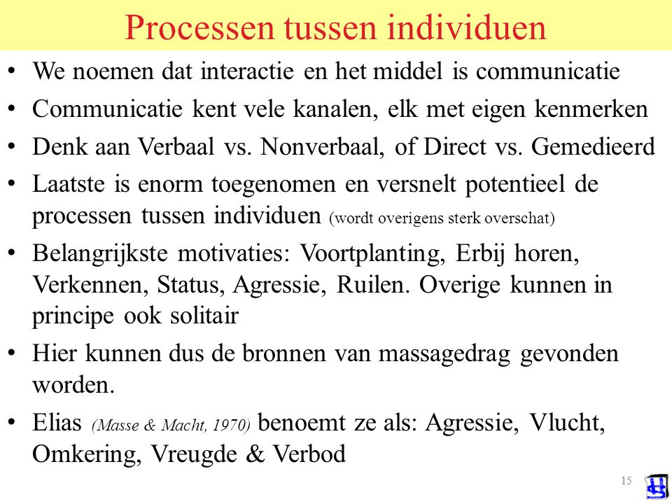 Processen tussen individuen