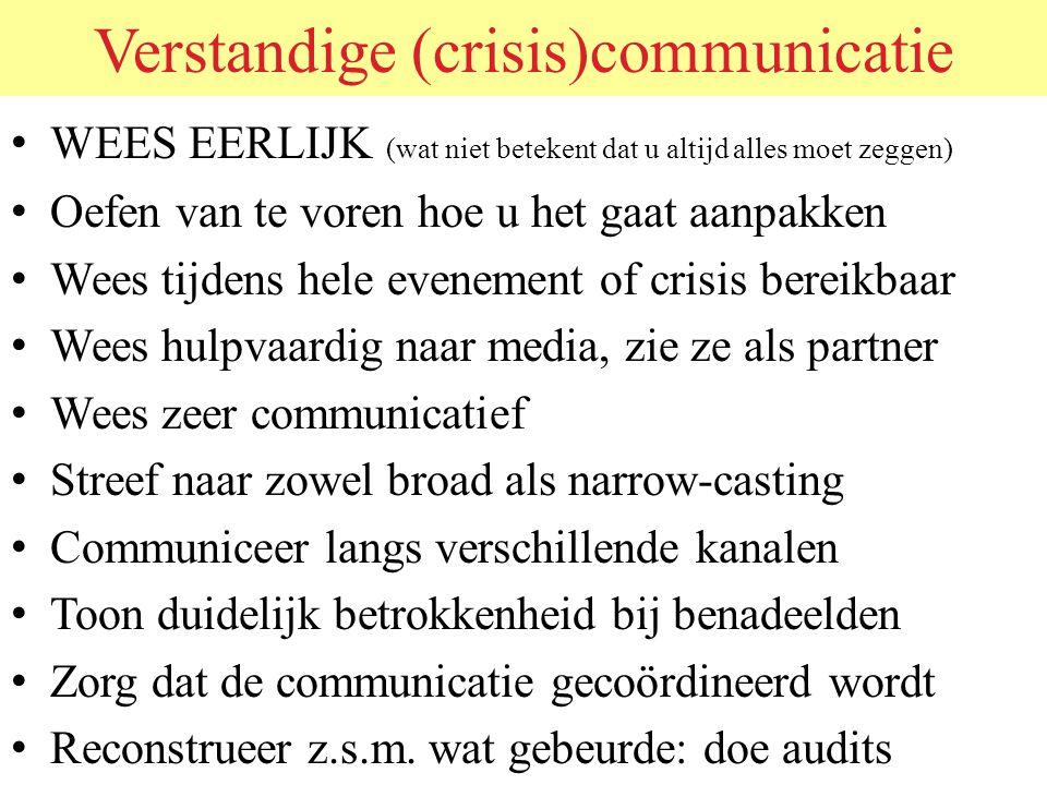 Verstandige (crisis)communicatie