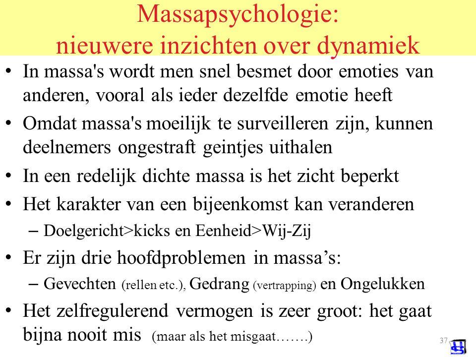 Massapsychologie: nieuwere inzichten over dynamiek