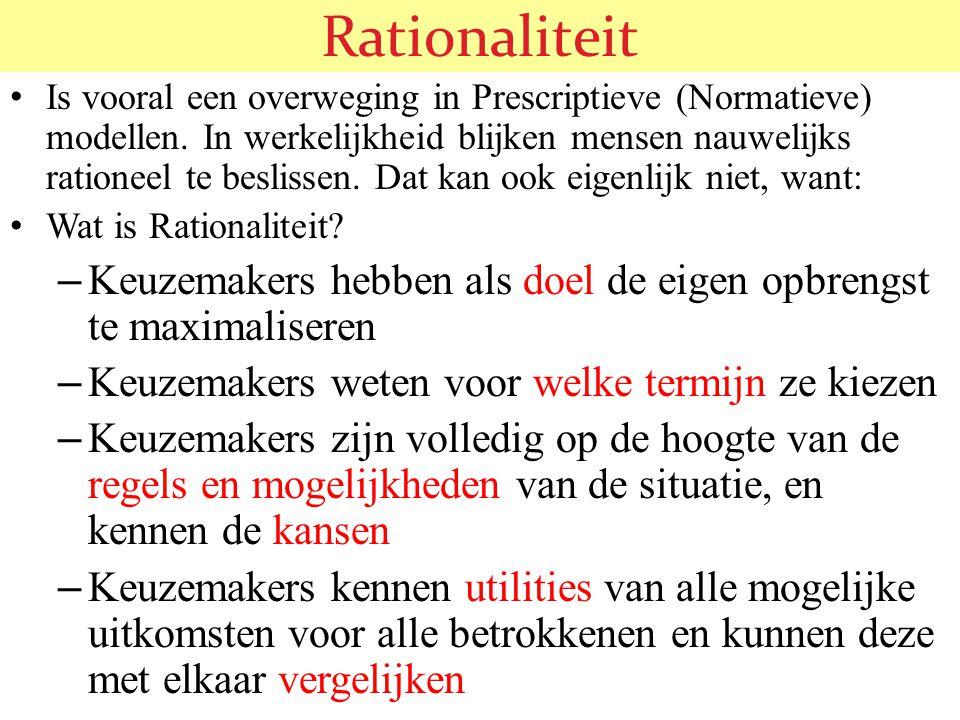 Rationaliteit blijkt een onhaalbaar ideaal te zijn