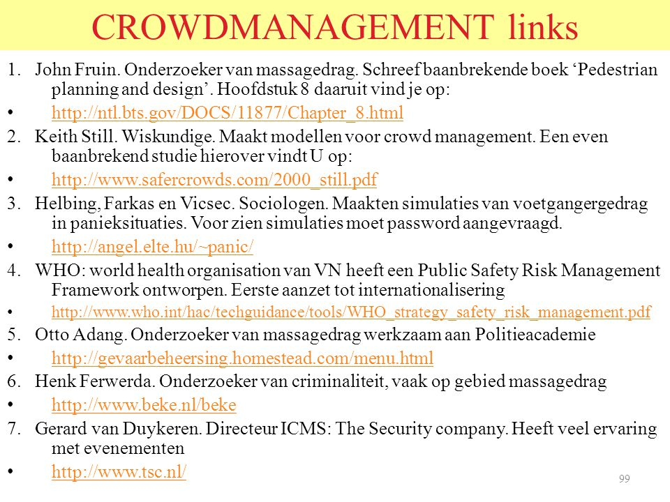 CROWDMANAGEMENT links
