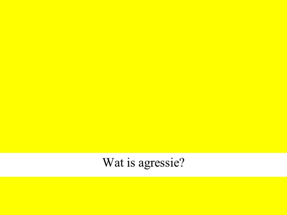 Wat is agressie