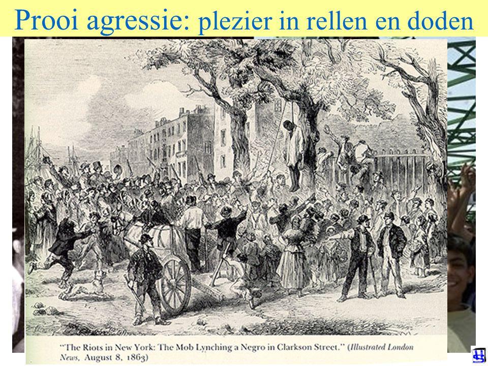 Prooi agressie: plezier in rellen en doden