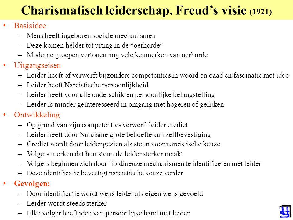 Charismatisch leiderschap. Freud's visie (1921)