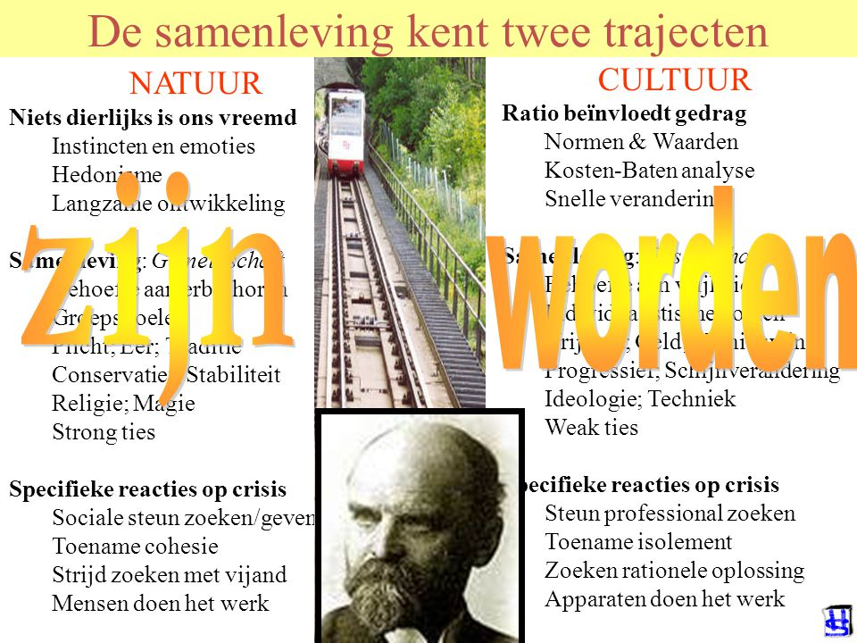 De samenleving kent twee trajecten