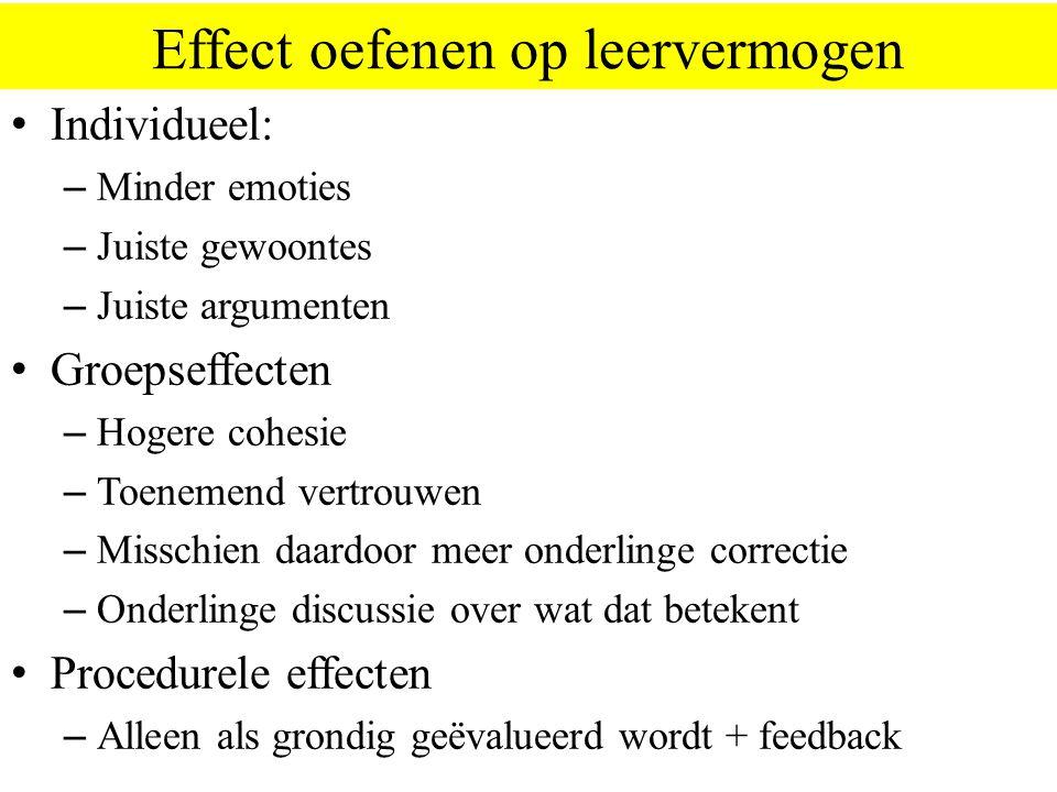 Effect oefenen op leervermogen