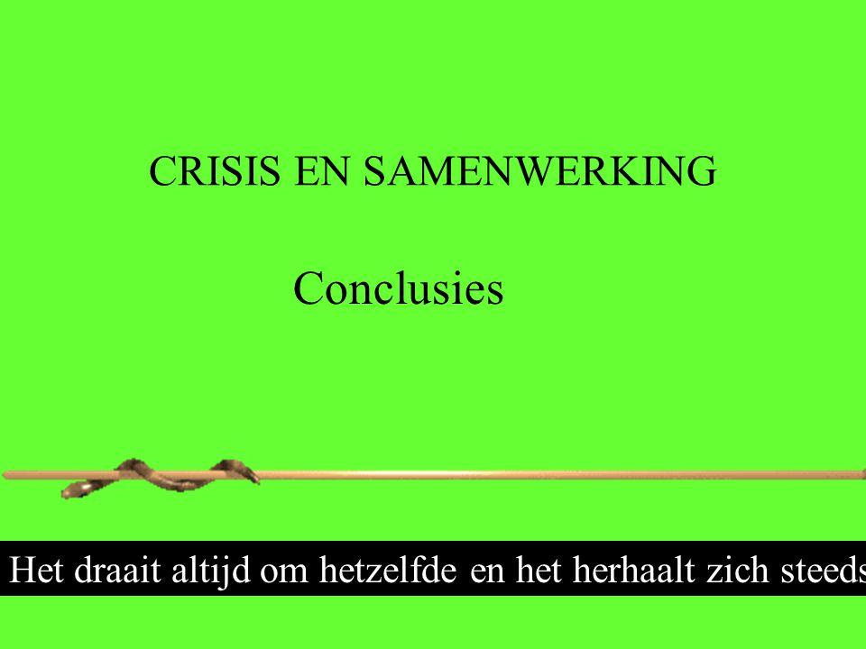 CRISIS EN SAMENWERKING