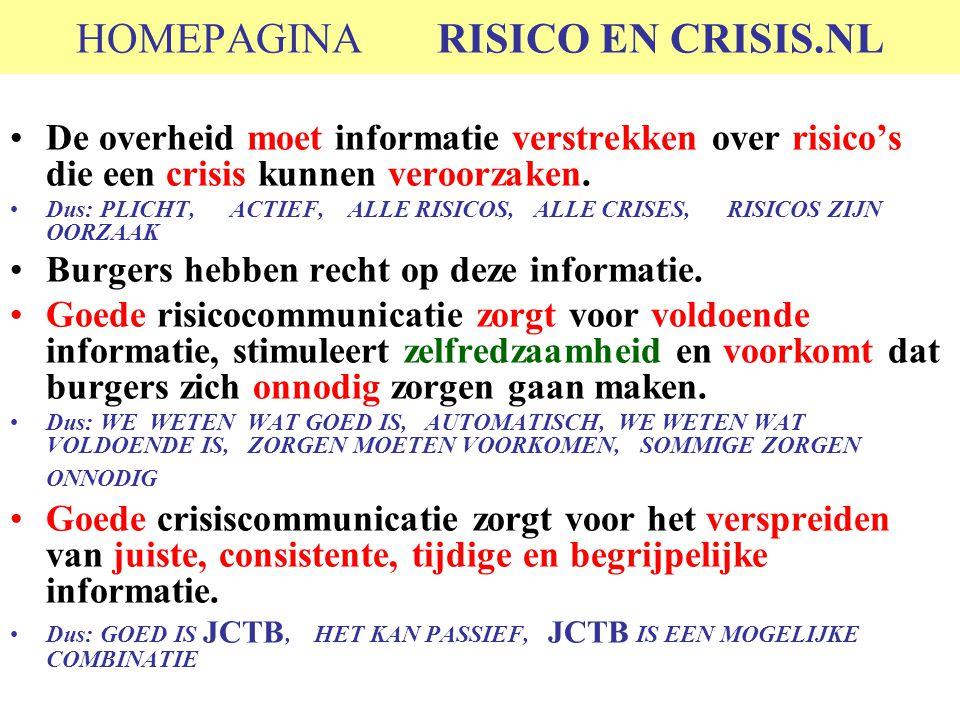 HOMEPAGINA RISICO EN CRISIS.NL