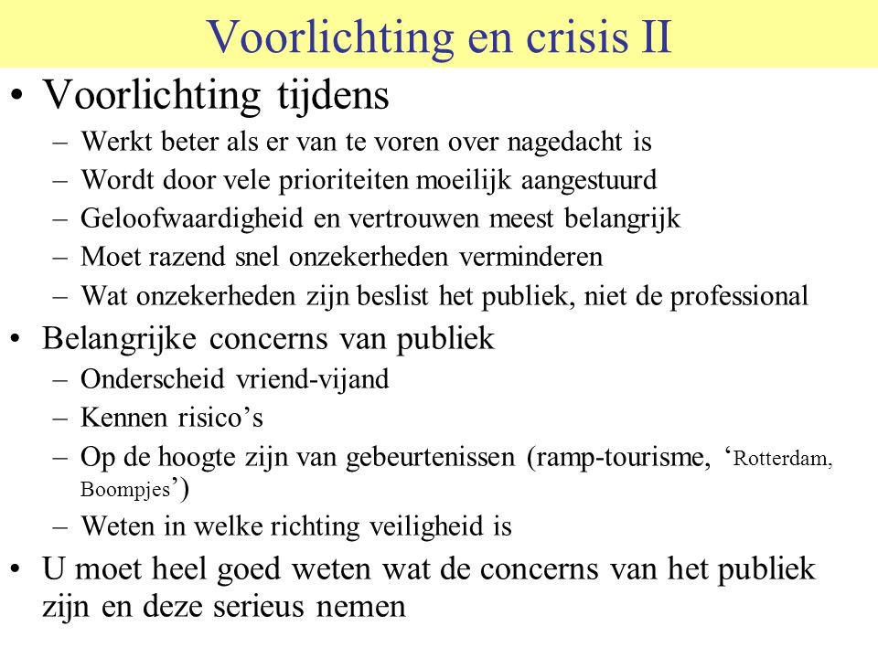 Voorlichting en crisis II