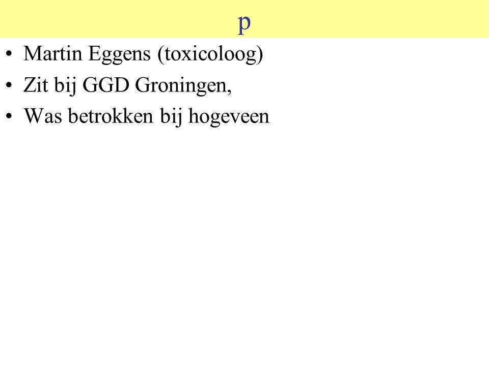 p Martin Eggens (toxicoloog) Zit bij GGD Groningen,