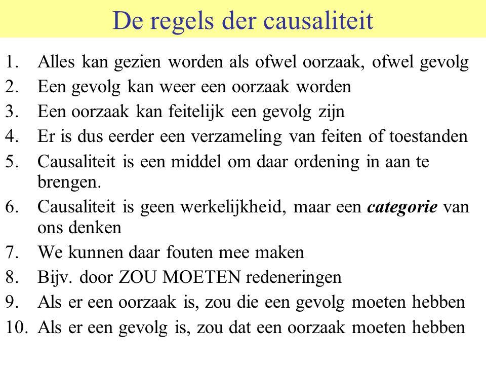 De regels der causaliteit