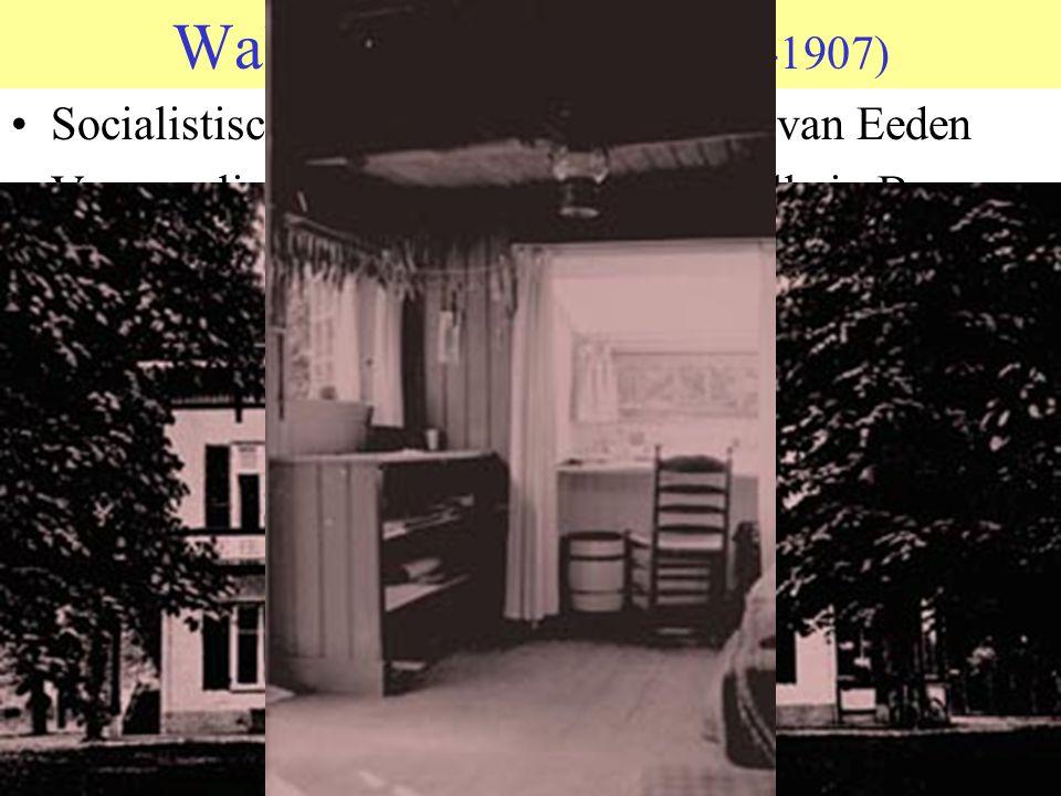 Walden anderhalf (1898-1907) Socialistisch experiment van Frederik van Eeden. Verzameling huisjes en hutten rond villa in Bussum.