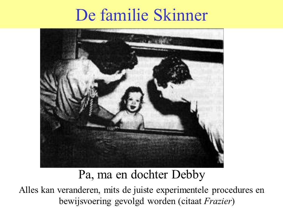 De familie Skinner Pa, ma en dochter Debby