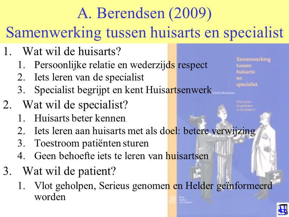 A. Berendsen (2009) Samenwerking tussen huisarts en specialist