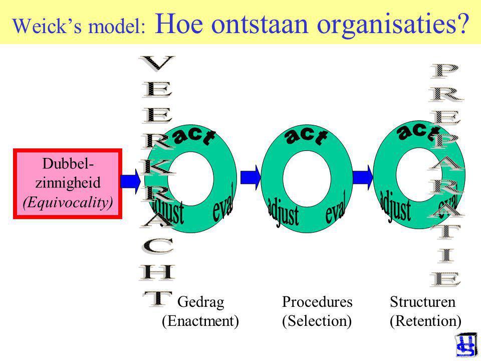 Weick's model: Hoe ontstaan organisaties