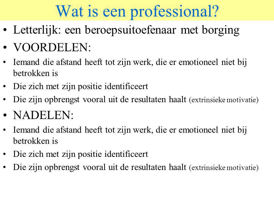 Wat is een professional