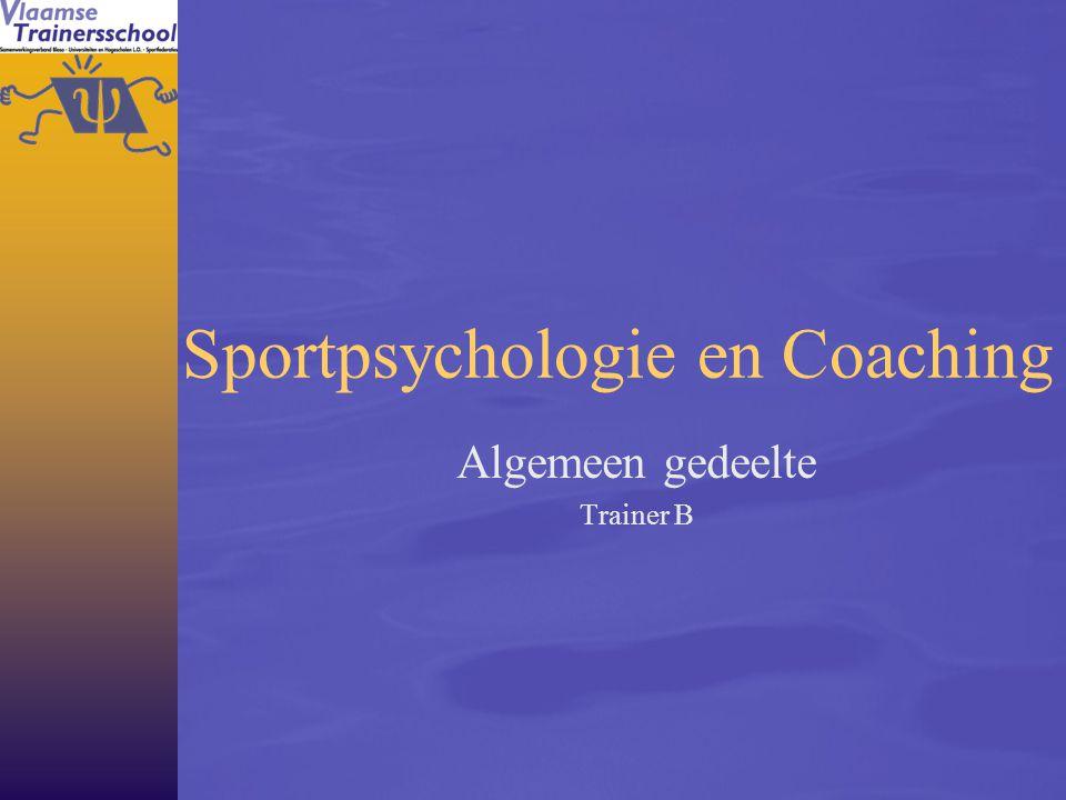 Sportpsychologie en Coaching