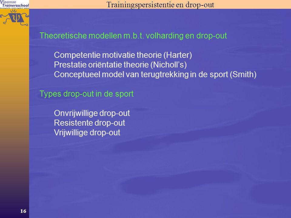 Trainingspersistentie en drop-out