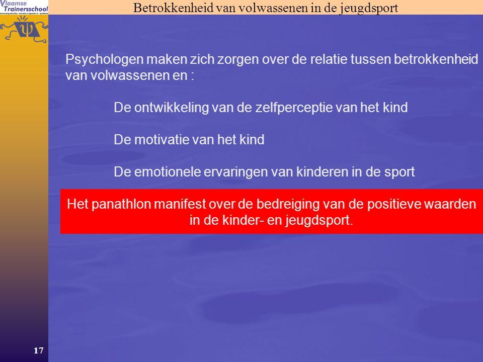 Betrokkenheid van volwassenen in de jeugdsport