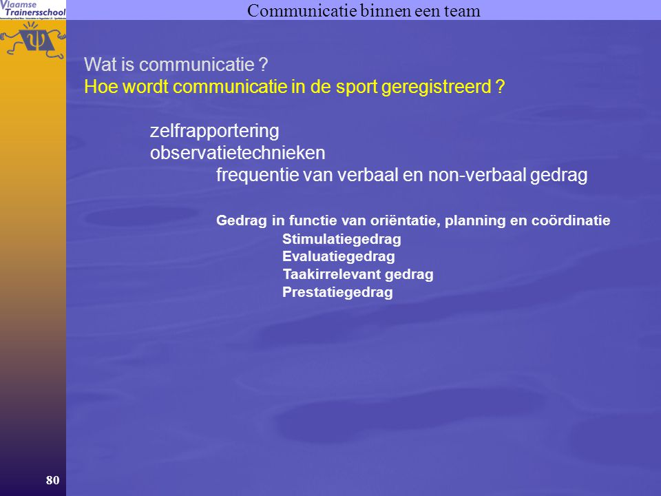 Communicatie binnen een team