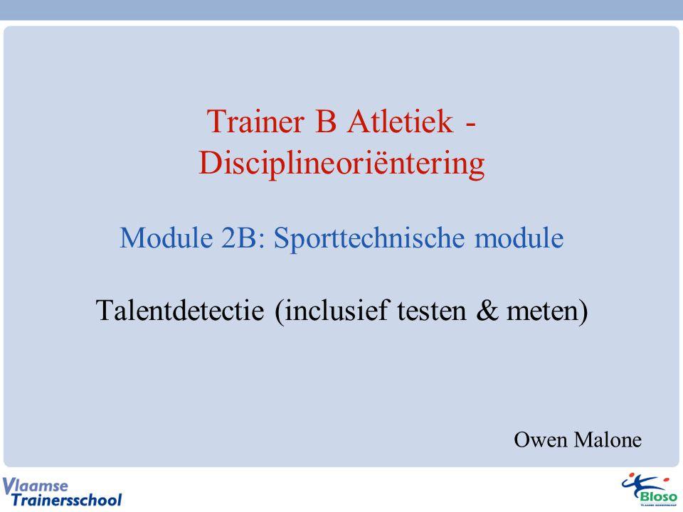 Trainer B Disciplineoriëntering