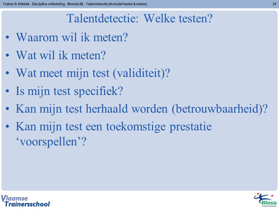 Talentdetectie: Welke testen