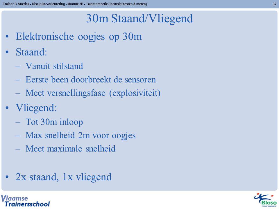 30m Staand/Vliegend Elektronische oogjes op 30m Staand: Vliegend: