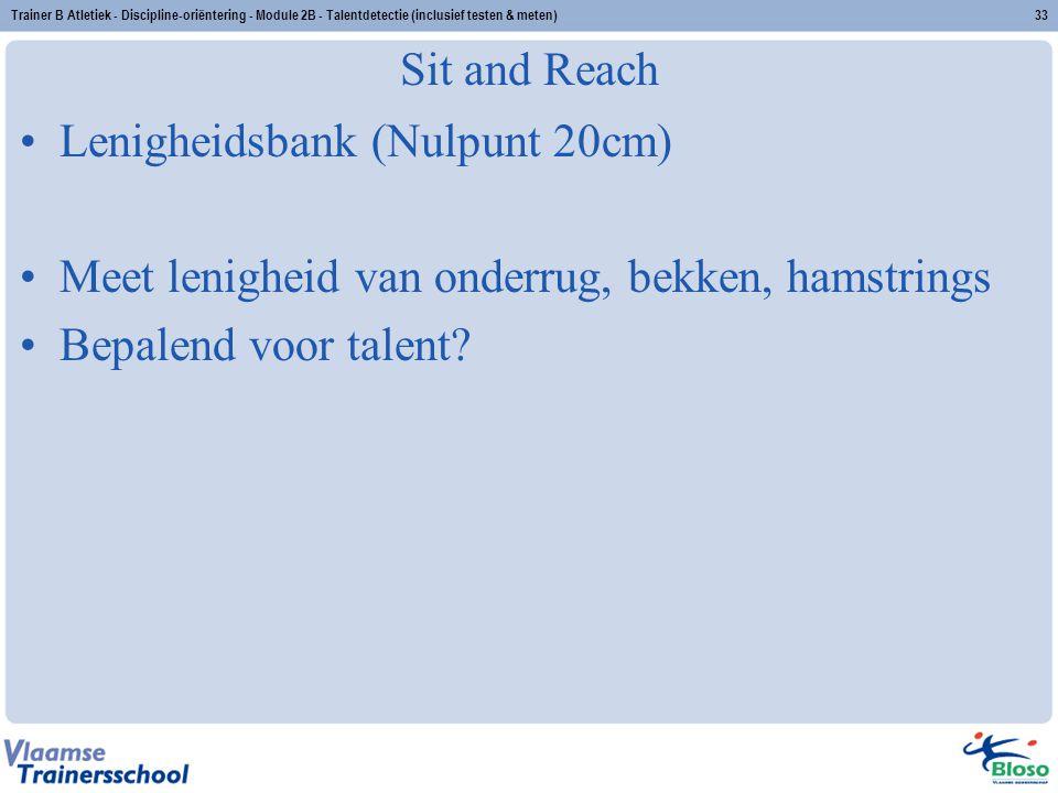 Lenigheidsbank (Nulpunt 20cm)