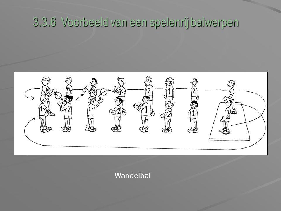 3.3.6 Voorbeeld van een spelenrij balwerpen