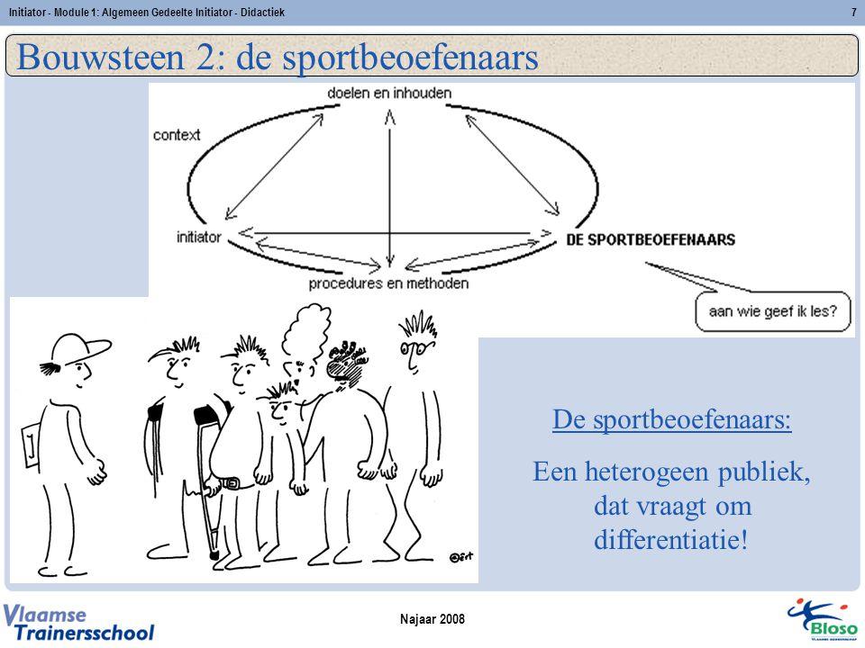 Bouwsteen 2: de sportbeoefenaars