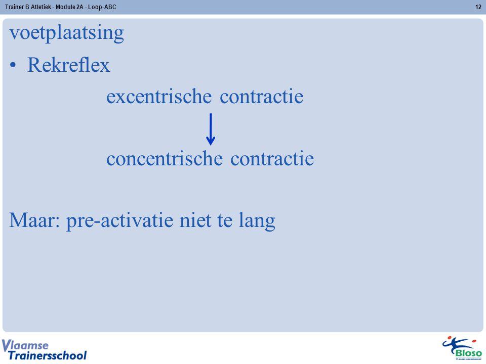 excentrische contractie concentrische contractie