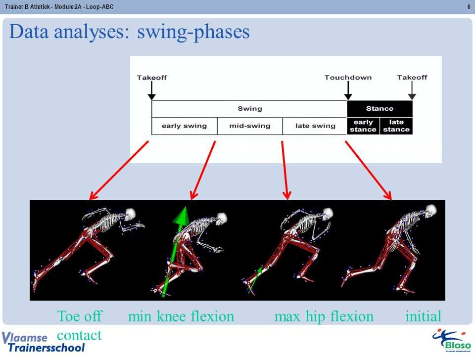 Data analyses: swing-phases