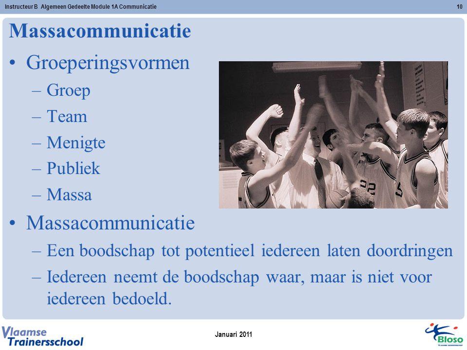 Massacommunicatie Groeperingsvormen Massacommunicatie Groep Team