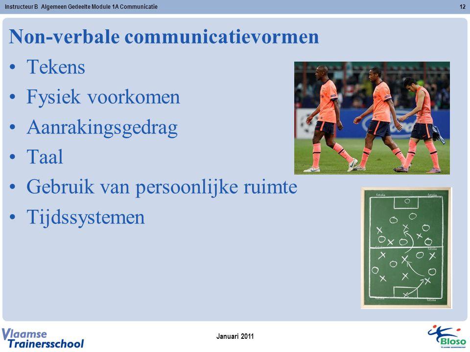 Non-verbale communicatievormen Tekens Fysiek voorkomen