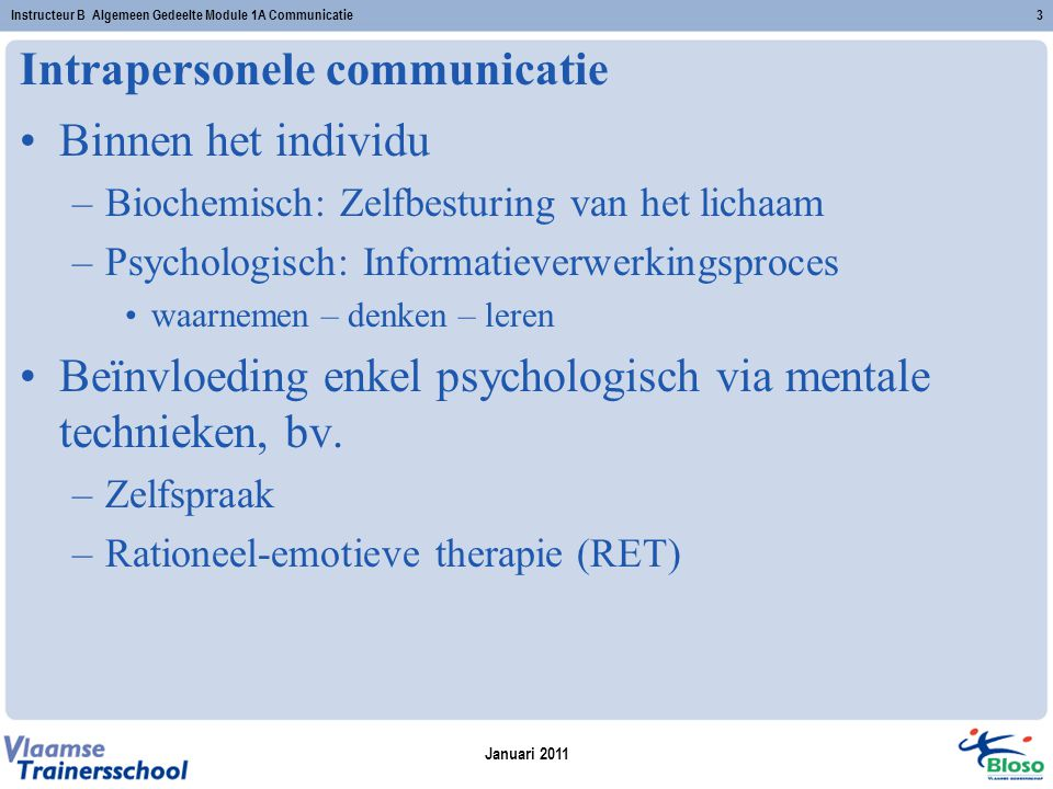 Intrapersonele communicatie