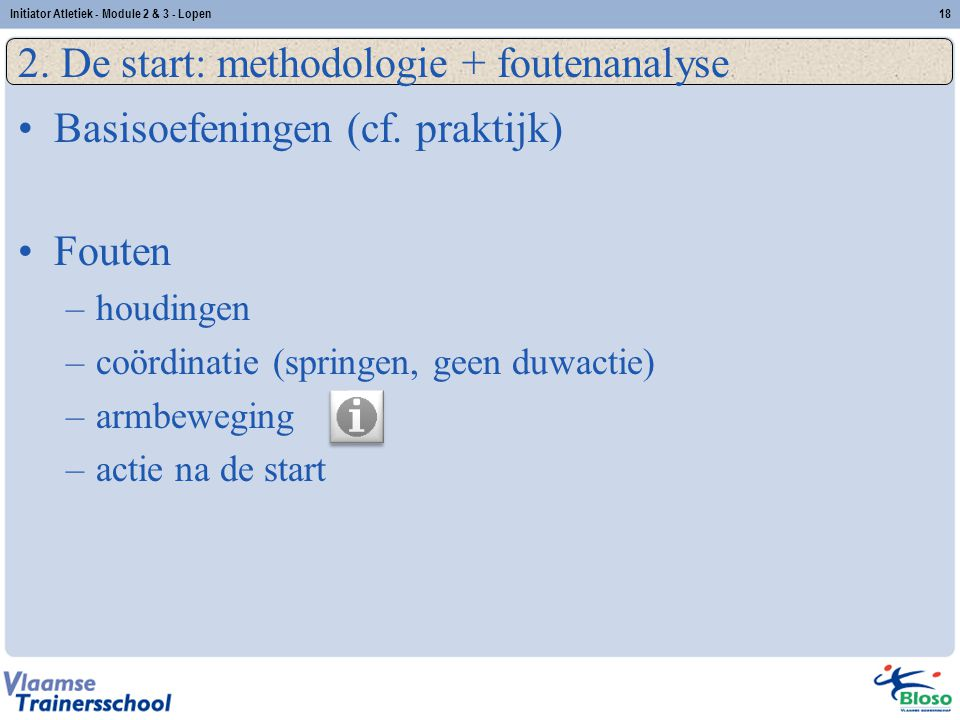 2. De start: methodologie + foutenanalyse