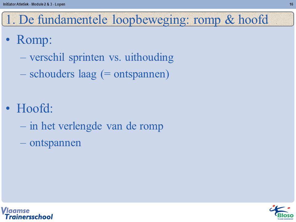1. De fundamentele loopbeweging: romp & hoofd