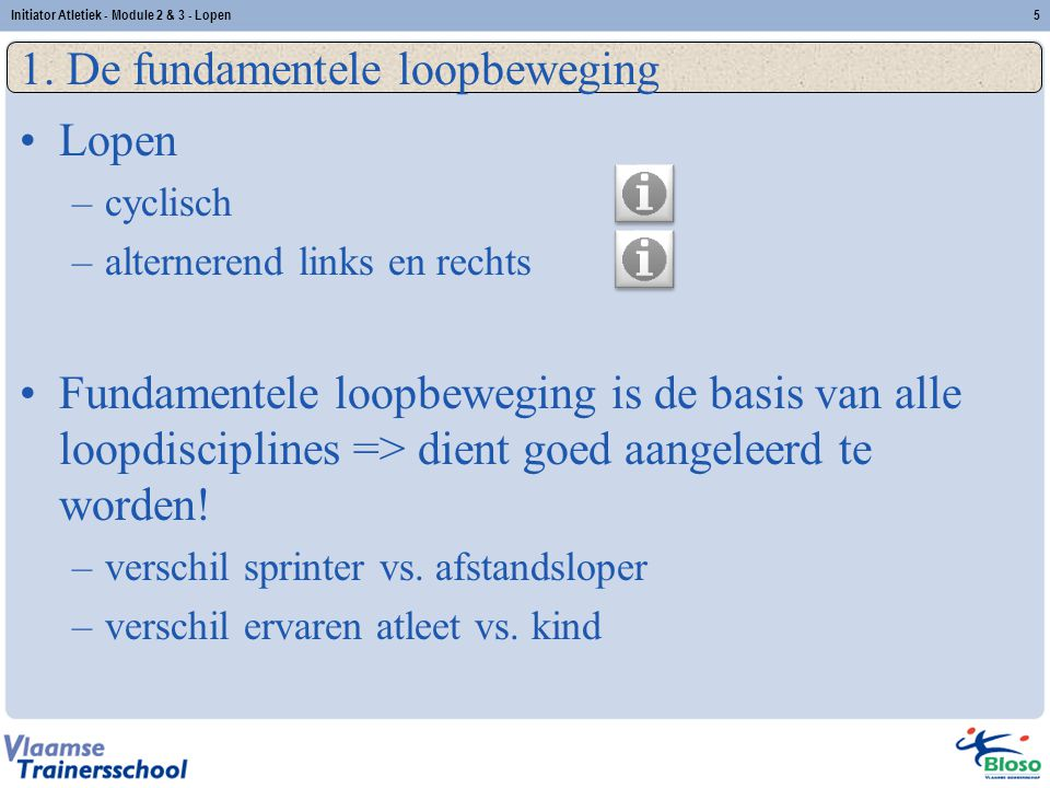 1. De fundamentele loopbeweging