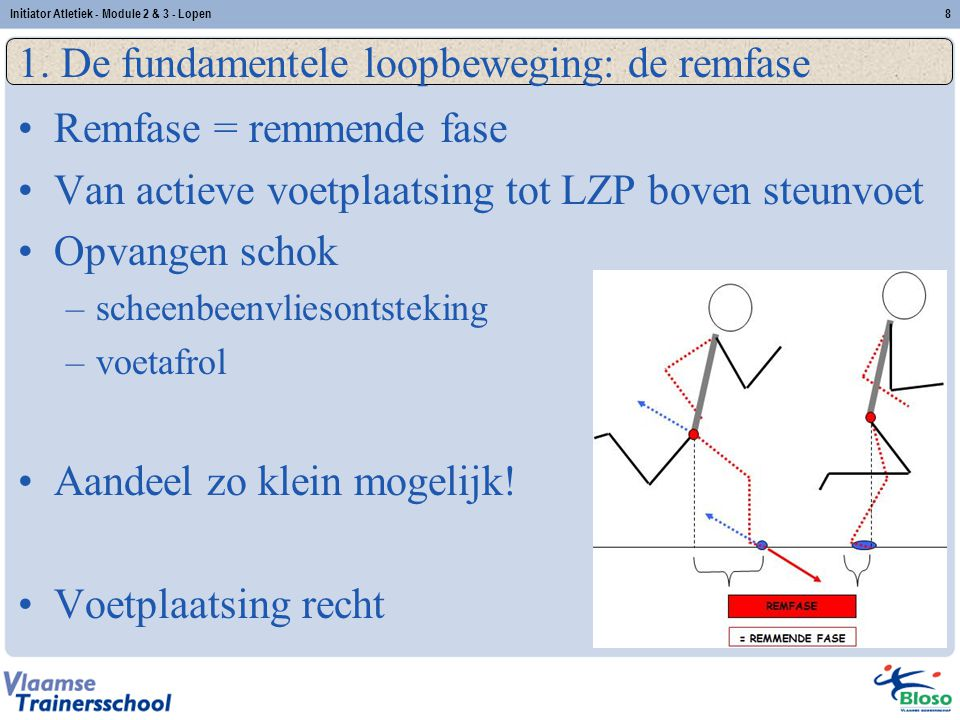 1. De fundamentele loopbeweging: de remfase