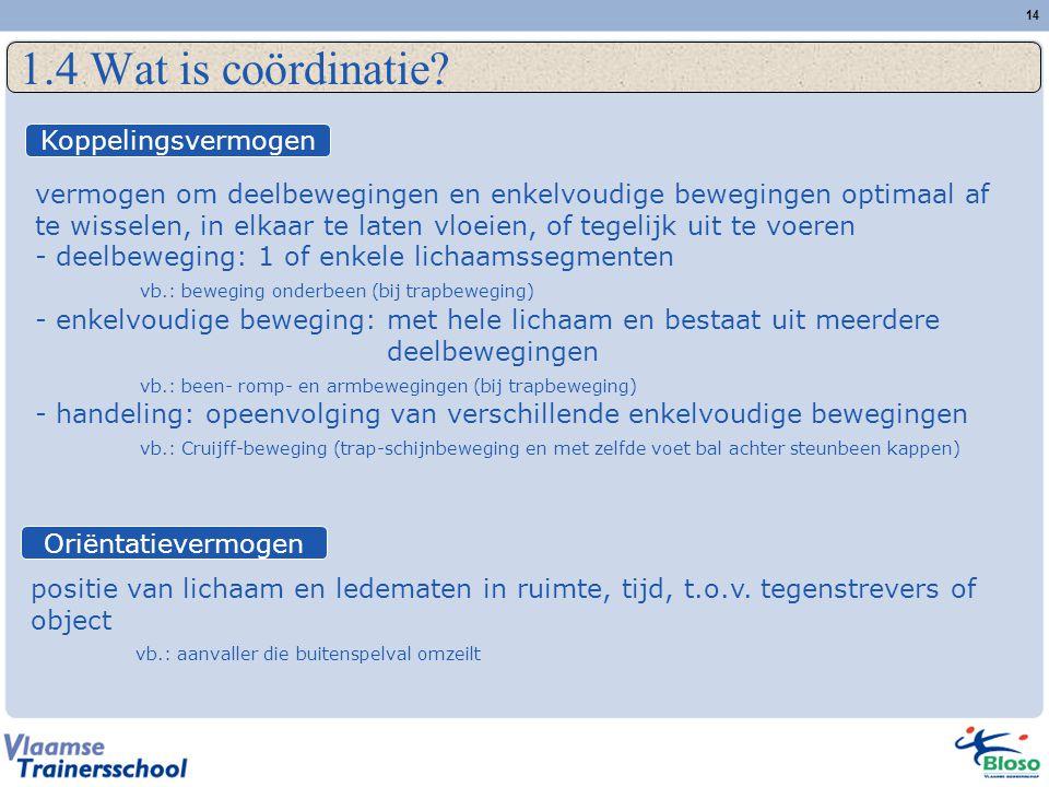1.4 Wat is coördinatie Koppelingsvermogen