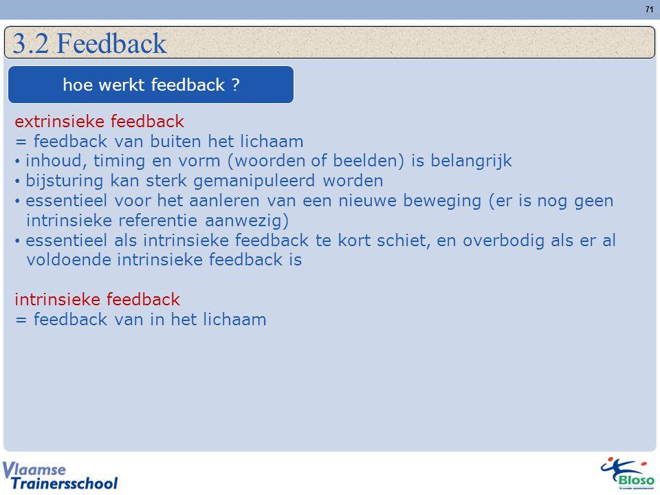 3.2 Feedback hoe werkt feedback extrinsieke feedback
