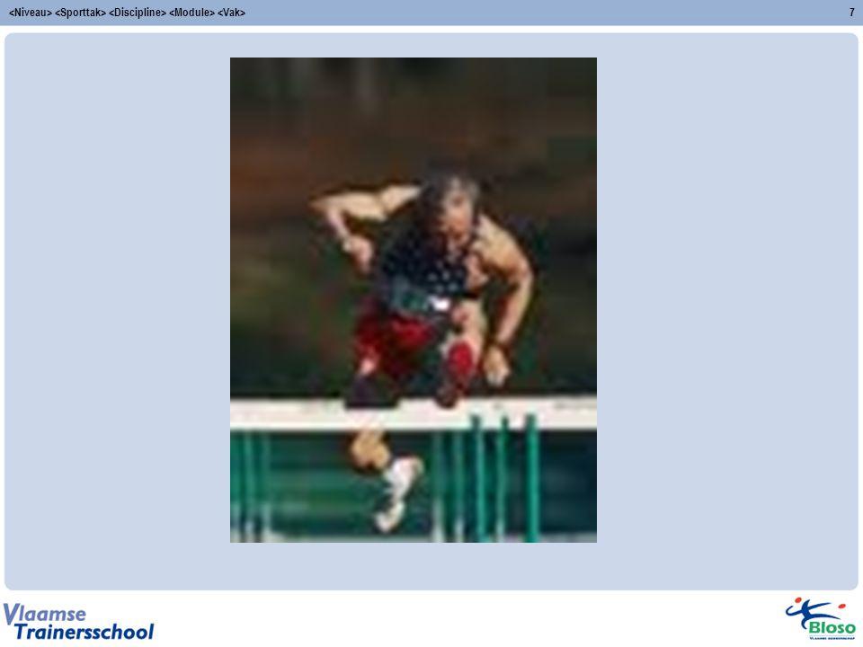 <Niveau> <Sporttak> <Discipline> <Module> <Vak>
