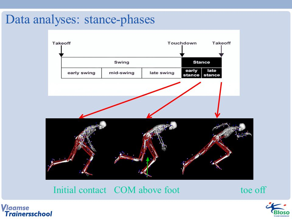 Data analyses: stance-phases