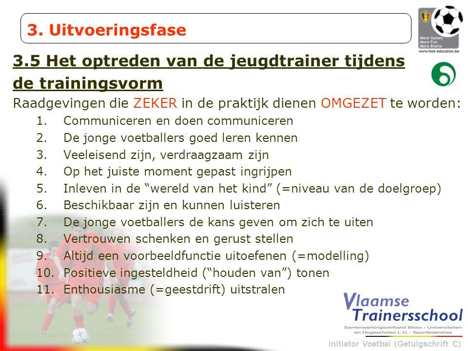 3.5 Het optreden van de jeugdtrainer tijdens de trainingsvorm